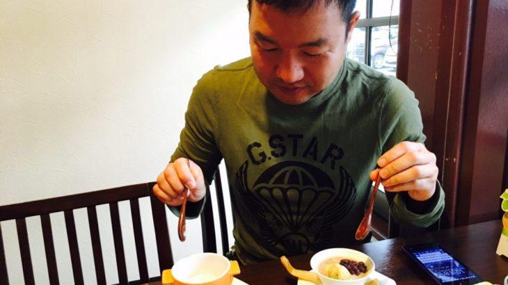 【ぜんざい】あったかいのと冷たいの、両方食す@大連飯店