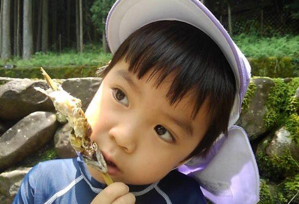丹波市青垣町今出川親水公園で、夏限定!あまごつかみができちゃうよ!