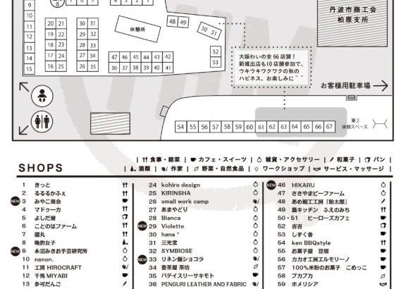 10/13(土)丹波ハピネスマーケットブースマップ&注目情報はこちら!
