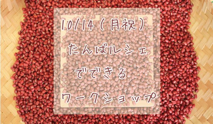 秋のワクワクイベント♪丹波の美味を実感する「たんばルシェ」【ワークショップ情報!】